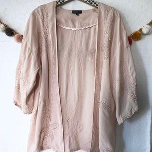 Top shop pink kimono